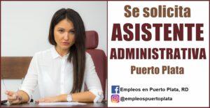 vacante de empleo de asistente administrativa