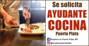 vacante de empleo de ayudante o asistente de cocina en republica dominicana