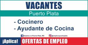 vacante de empleo Restaurante bliss solicita Cocinero y Ayudante de Cocina en Cabarete